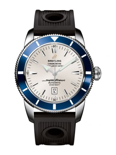 Breitling A1732016.G642.201S : Superocean Heritage 46 Stainless Steel / Blue / Stratus Silver / Rubber
