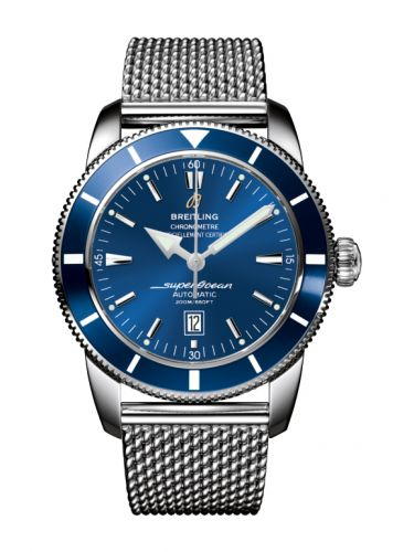 Breitling A1732016.C734.144A : Superocean Heritage 46 Stainless Steel / Blue / Blue / Milanese
