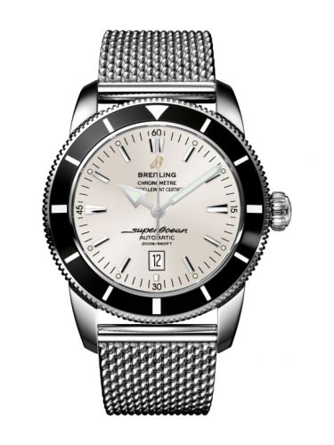 Breitling A1732024.G642.152A : Superocean Heritage 46 Stainless Steel / Black / Stratus Silver / Milanese