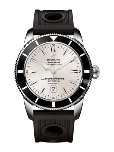 Breitling A1732024.G642.201S : Superocean Heritage 46 Stainless Steel / Black / Stratus Silver / Rubber