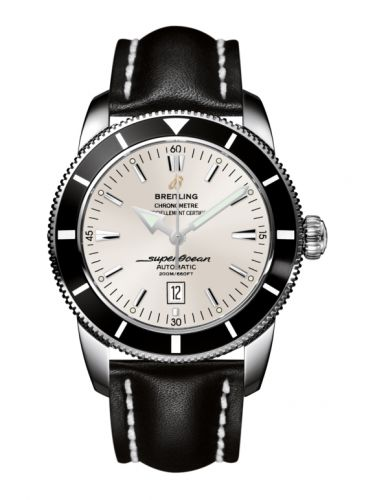 Breitling A1732024.G642.441X : Superocean Heritage 46 Stainless Steel / Black / Stratus Silver / Calf