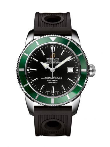 Breitling A1732136.BA61.200S : Superocean Heritage 42 Stainless Steel / Green / Volcano Black / Rubber