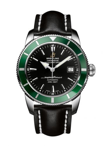 Breitling A1732136.BA61.435X : Superocean Heritage 42 Stainless Steel / Green / Volcano Black / Calf