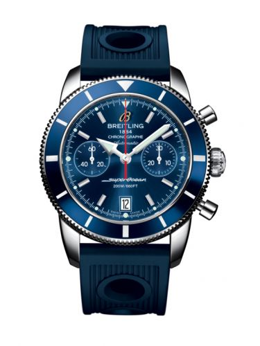 Breitling A2337016.C856.211S : Superocean Heritage 44 Chronograph Stainless Steel / Blue / Blue / Rubber