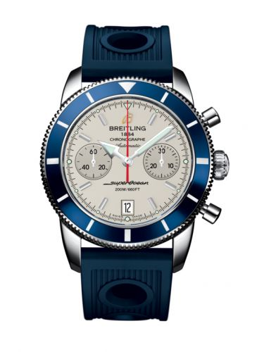 Breitling A2337016.G753.211S : Superocean Heritage 44 Chronograph Stainless Steel / Blue / Silver / Rubber