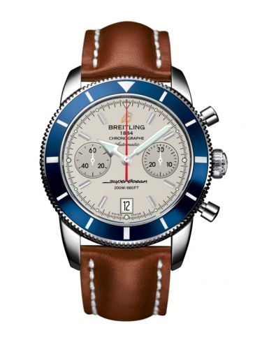 Breitling A2337016.G753.433X : Superocean Heritage 44 Chronograph Stainless Steel / Blue / Silver / Calf
