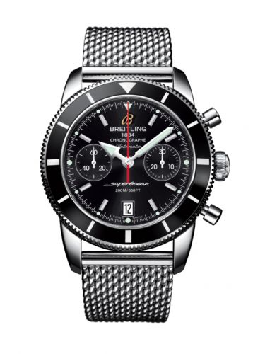 Breitling A2337024.BB81.154A : Superocean Heritage 44 Chronograph Stainless Steel / Black / Black / Milanese