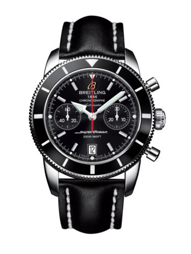 Breitling A2337024.BB81.435X : Superocean Heritage 44 Chronograph Stainless Steel / Black / Black / Calf