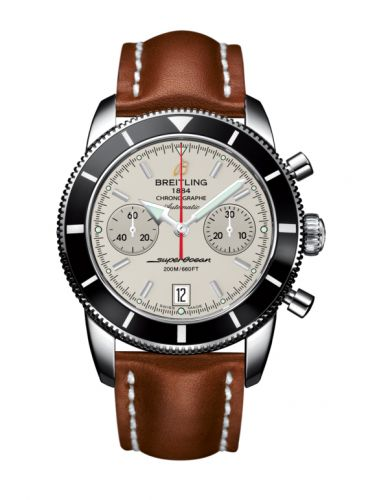 Breitling A2337024.G753.433X : Superocean Heritage 44 Chronograph Stainless Steel / Black / Silver / Calf