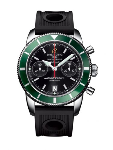 Breitling A2337036.BB81.200S : Superocean Heritage 44 Chronograph Stainless Steel / Green / Black / Rubber