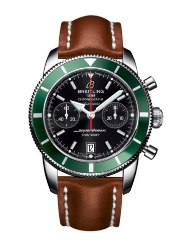 Breitling A2337036.BB81.433X : Superocean Heritage 44 Chronograph Stainless Steel / Green / Black / Calf