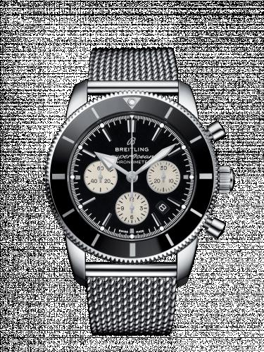 Breitling AB0162121B1A1 : Superocean Heritage II B01 Chronograph 44 Stainless Steel / Black / Bracelet