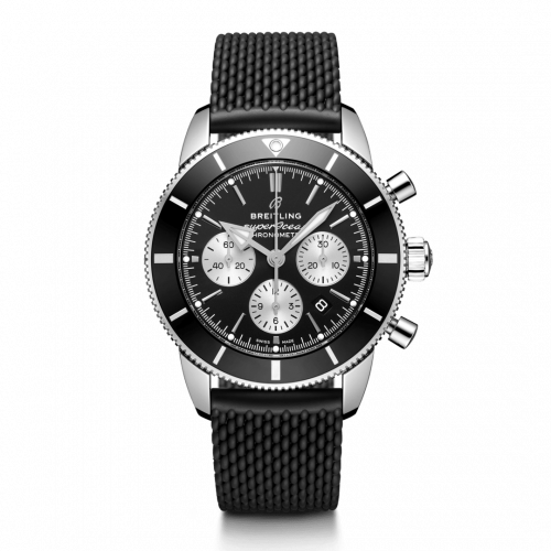 Breitling AB0162121B1S1 : Superocean Heritage II B01 Chronograph 44 Stainless Steel / Black / Rubber / Folding