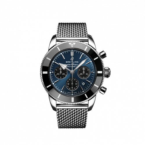 Breitling AB0162121C1A1 : Superocean Heritage II B01 Chronograph 44 Stainless Steel / Blue / Bracelet