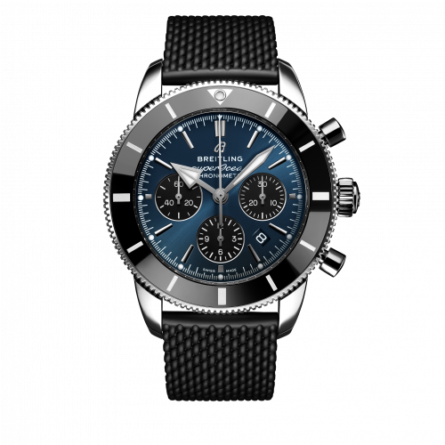 Breitling AB0162121C1S1 : Superocean Heritage II B01 Chronograph 44 Stainless Steel / Blue / Rubber / Folding