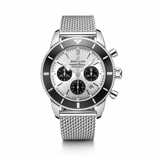 Breitling AB0162121G1A1 : Superocean Heritage II B01 Chronograph 44 Stainless Steel / Silver / Bracelet