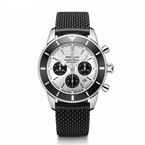 Breitling AB0162121G1S1 : Superocean Heritage II B01 Chronograph 44 Stainless Steel / Silver / Rubber / Folding