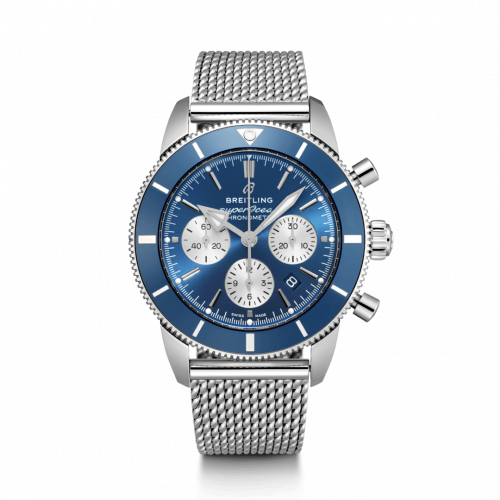 Breitling AB0162161C1A1 : Superocean Heritage II B01 Chronograph 44 Stainless Steel / Blue / Bracelet