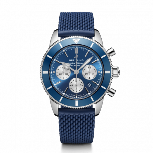 Breitling AB0162161C1S1 : Superocean Heritage II B01 Chronograph 44 Stainless Steel / Blue / Rubber / Folding