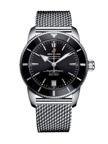 Breitling AB2010121B1A1 : Superocean Heritage II 42 Stainless Steel / Black / Black / Bracelet