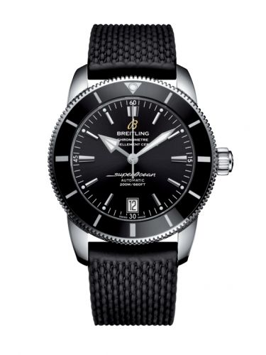Breitling AB201012/BF73/278S/A20S.1 : Superocean Heritage II 42 Stainless Steel / Black / Black / Rubber / Pin