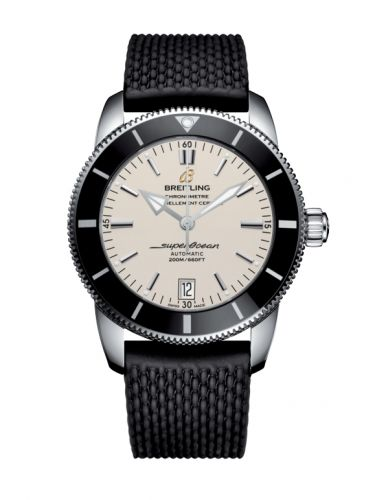 Breitling AB201012/G827/278S/A20S.1 : Superocean Heritage II 42 Stainless Steel / Black / Silver / Rubber / Pin