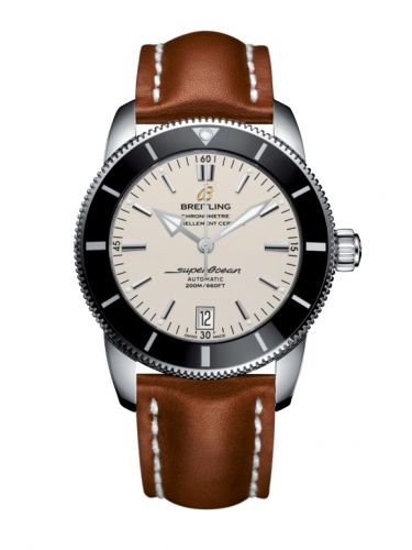 Breitling AB201012.G827.433X/A20BA.1 : Superocean Heritage II 42 Stainless Steel / Black / Silver / Calf / Pin