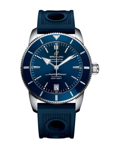 Breitling AB201016/C960/211S/A20S.1 : Superocean Heritage II 42 Stainless Steel / Blue / Blue / Rubber / Pin