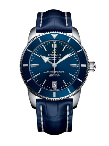 Breitling AB201016/C960/731P/A20BA.1 : Superocean Heritage II 42 Stainless Steel / Blue / Blue / Croco / Pin