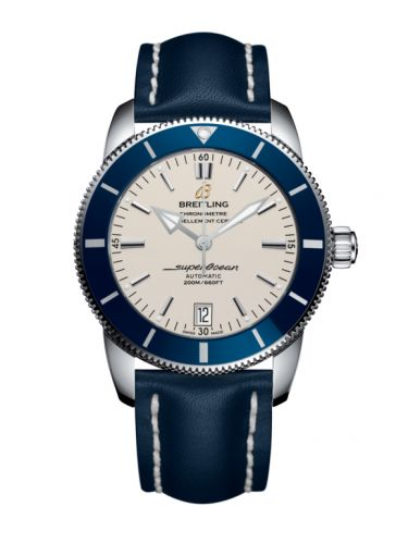 Breitling AB201016/G827/105X/A20BA.1 : Superocean Heritage II 42 Stainless Steel / Blue / Silver / Calf / Pin