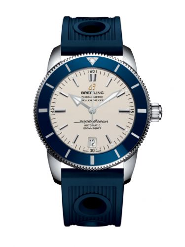 Breitling AB201016/G827/211S/A20S.1 : Superocean Heritage II 42 Stainless Steel / Blue / Silver / Rubber / Pin