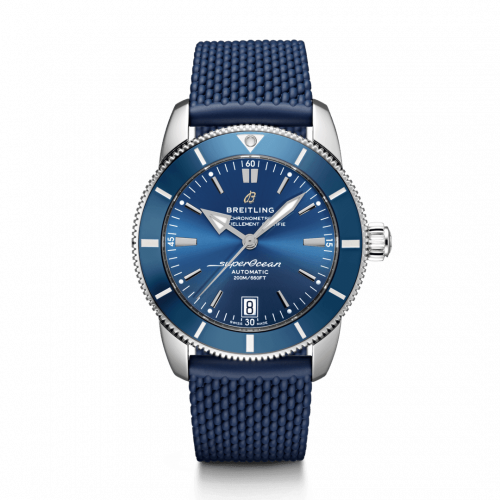 Breitling AB2010161C1S1 : Superocean Heritage II 42 Stainless Steel / Blue / Blue / Rubber / Folding