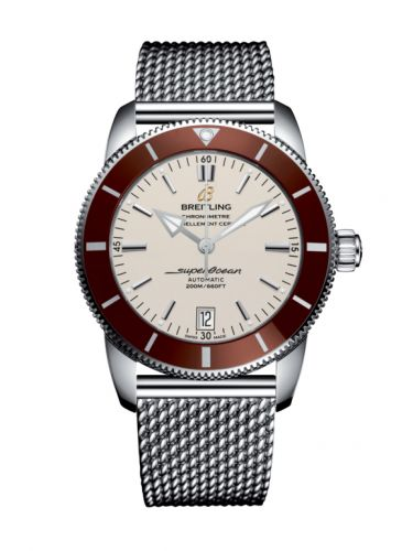 Breitling AB201033.G827.154A : Superocean Heritage II 42 Stainless Steel / Bronze / Silver / Milanese