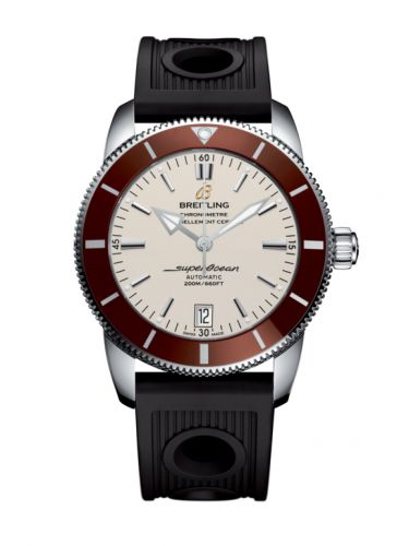 Breitling AB201033.G827.200S : Superocean Heritage II 42 Stainless Steel / Bronze / Silver / Rubber