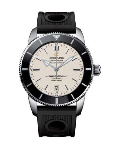 Breitling AB202012/G828/201S/A20D.2 : Superocean Heritage II 46 Stainless Steel / Black / Silver / Rubber / Folding