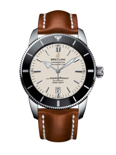 Breitling AB202012/G828/439X/A20BA.1 : Superocean Heritage II 46 Stainless Steel / Black / Silver / Calf / Pin