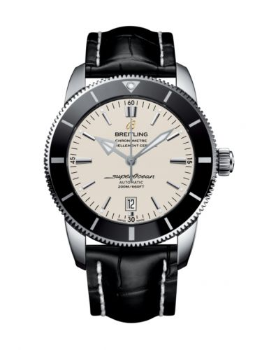 Breitling AB202012/G828/760P/A20BA.1 : Superocean Heritage II 46 Stainless Steel / Black / Silver / Croco / Pin