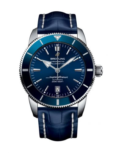 Breitling AB202016/C961/746P/A20D.1 : Superocean Heritage II 46 Stainless Steel / Blue / Blue / Croco / Pin