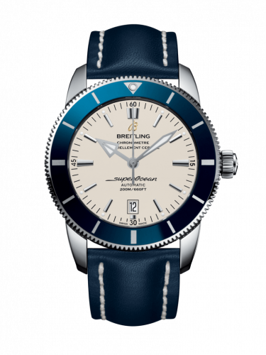 Breitling AB202016/G828/102X/A20D.1 : Superocean Heritage II 46 Stainless Steel / Blue / Silver / Calf / Folding