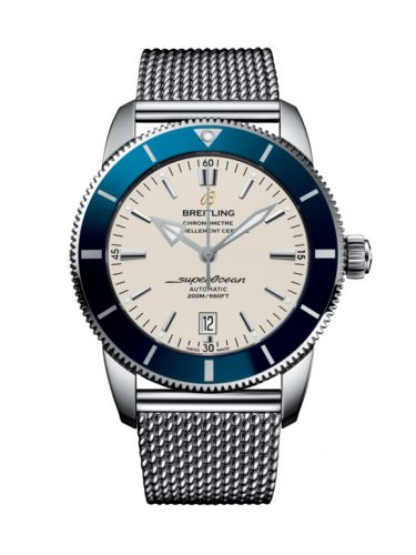 Breitling AB202016/G828/152A : Superocean Heritage II 46 Stainless Steel / Blue / Silver / Milanese