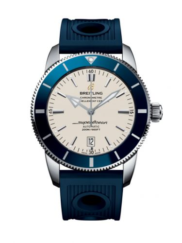 Breitling AB202016/G828/205S/A20D.2 : Superocean Heritage II 46 Stainless Steel / Blue / Silver / Rubber / Folding