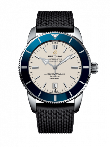 Breitling AB202016/G828/256S/A20D.2 : Superocean Heritage II 46 Stainless Steel / Blue / Silver / Rubber / Folding