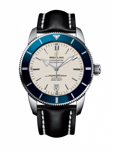 Breitling AB202016/G828/441X/A20BA.1 : Superocean Heritage II 46 Stainless Steel / Blue / Silver / Calf / Pin