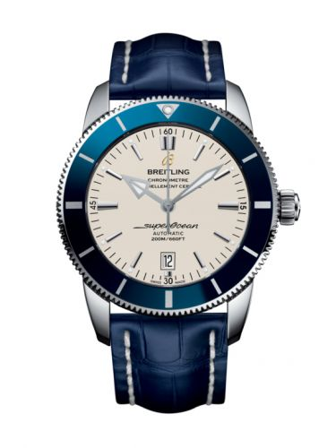 Breitling AB202016/G828/746P/A20BA.1 : Superocean Heritage II 46 Stainless Steel / Blue / Silver / Croco / Pin