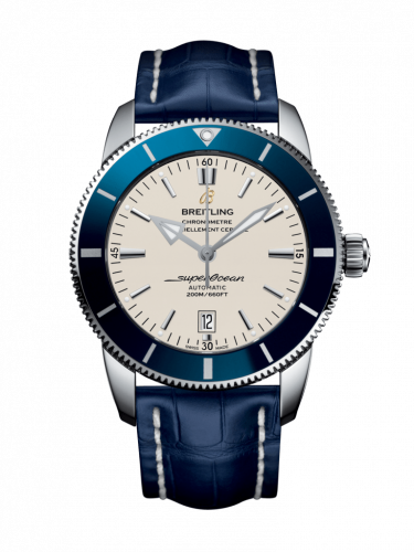 Breitling AB202016/G828/747P/A20D.1 : Superocean Heritage II 46 Stainless Steel / Blue / Silver / Croco / Folding