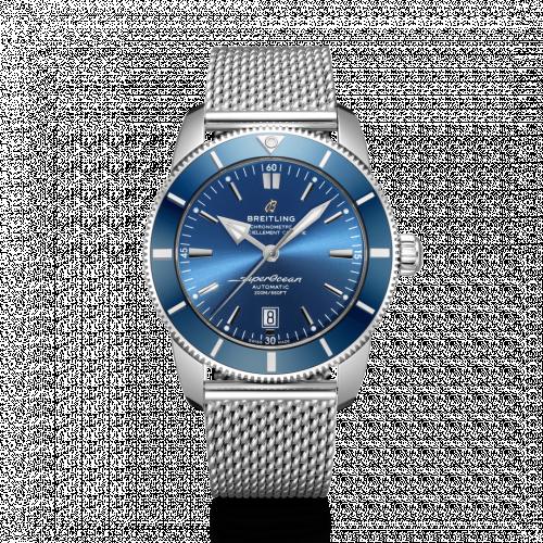 Breitling AB2020161C1A1 : Superocean Heritage II 46 Stainless Steel / Blue / Blue / Bracelet