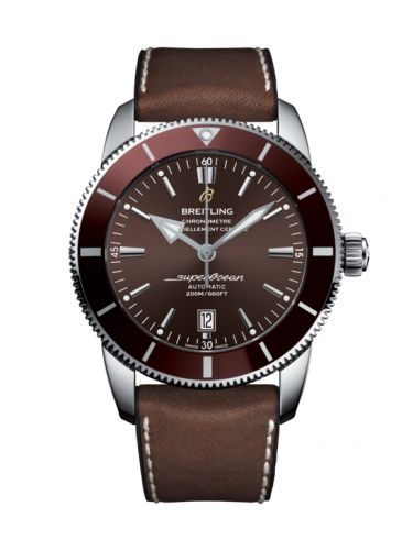 Breitling AB202033/Q618/295S/A20D.2 : Superocean Heritage II 46 Stainless Steel / Bronze / Bronze / Rubber Leather