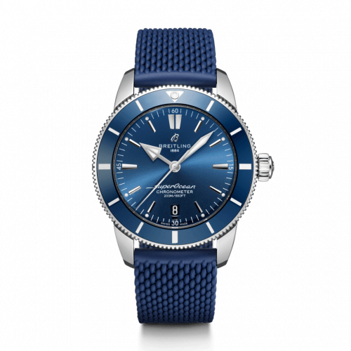 Breitling AB2030161C1S1 : Superocean Heritage II B20 Automatic 44 Stainless Steel / Blue / Rubber / Folding