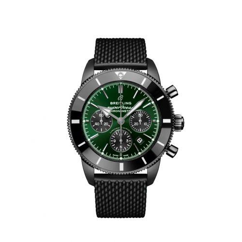 Breitling MB01621A1L1S1 : Superocean Heritage II B01 Chronograph 44 Blacksteel / Green