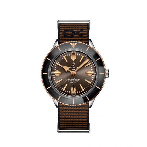 Breitling U103701A1Q1W1 : Superocean Heritage '57 Stainless Steel / Red Gold / Outerknown